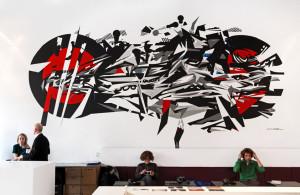 Muurschildering by Luuk Bode