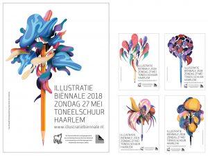 Affiches Illustratie Biënnale 2018, © Merijn Hos