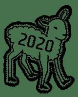 Illustratie Biënnale 2020 schaap logo